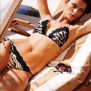 Victoria's Secret Swim - Victoria's Secret tiger print tie bikini